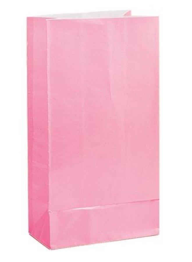 Traktatiezakjes roze 12x