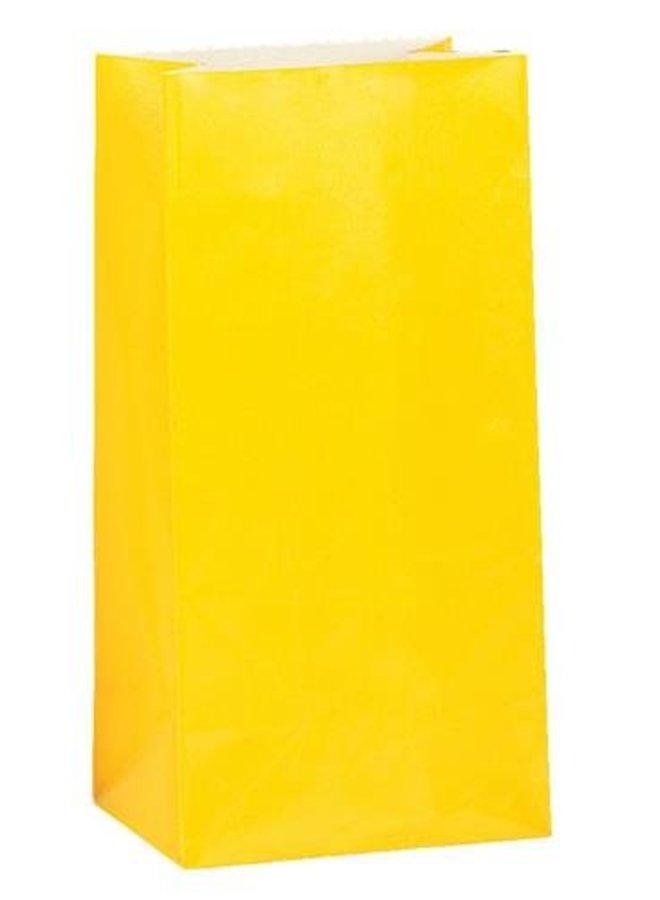 Traktatiezakjes geel 12x