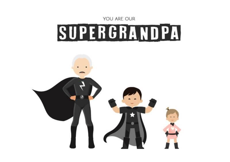 Poster superdaddy (supergrandpa)