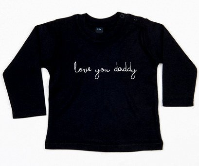 Zwarte longsleeve love you daddy