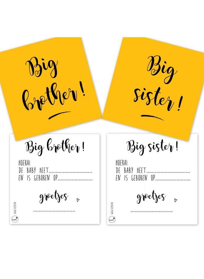 Traktatiekaartjes Big sister 10x