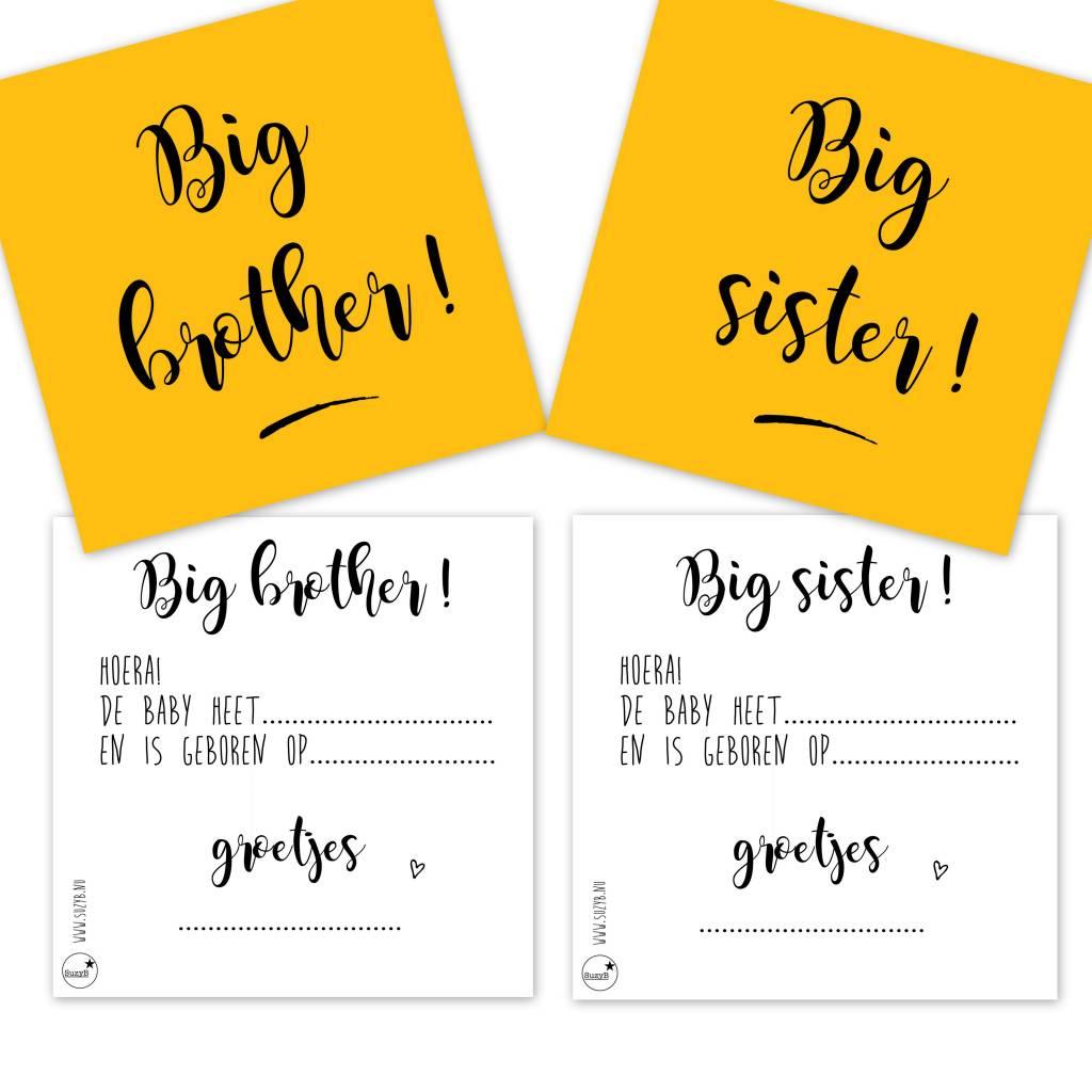 SuzyB Traktatiekaartjes Big sister 10x
