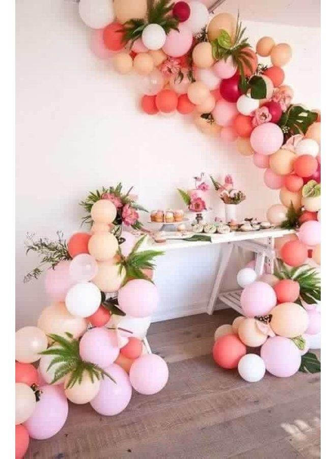 Ballonnen perzik 10 x