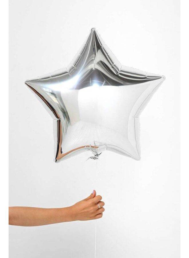 Ballon ster zilver