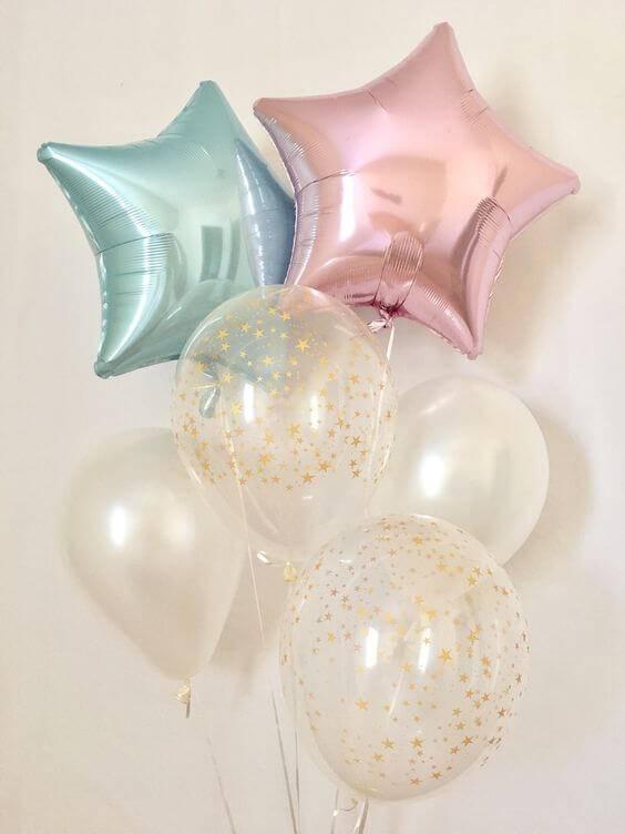 Ballon ster roze