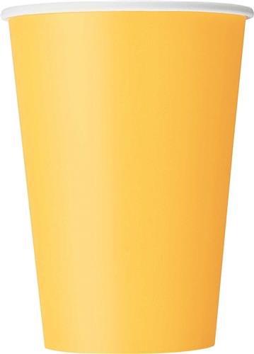 Gele bekers 8x