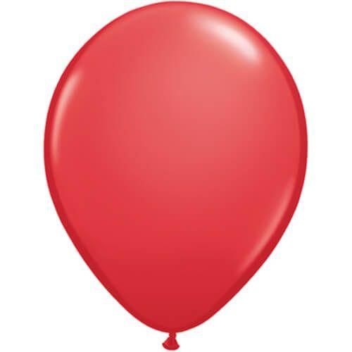 Rode ballonnen 6x