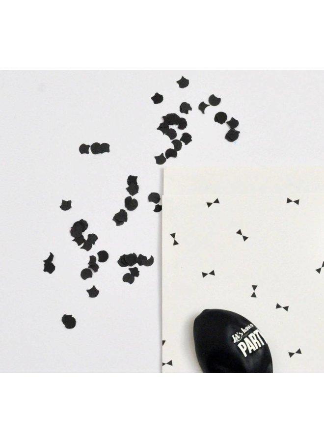 Confetti zwart