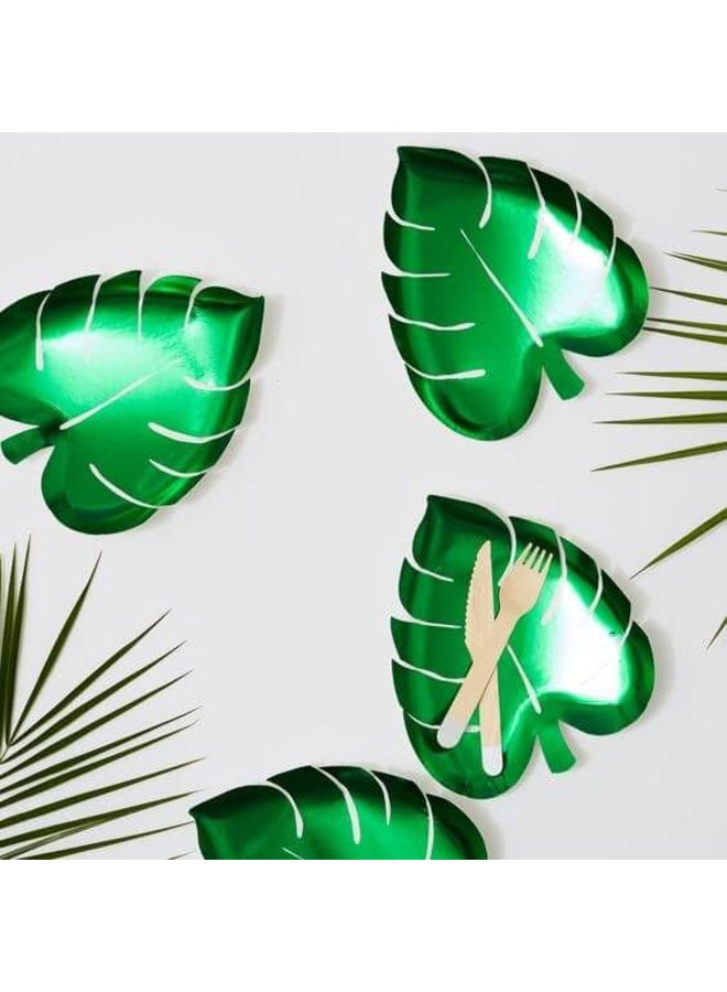 Bordje palmblad 8x