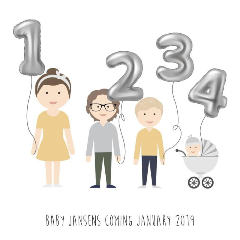 Zwangerschapsaankondiging Ballon