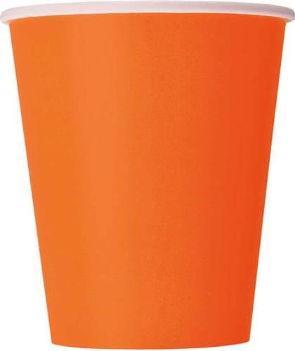 Oranje bekers 8x