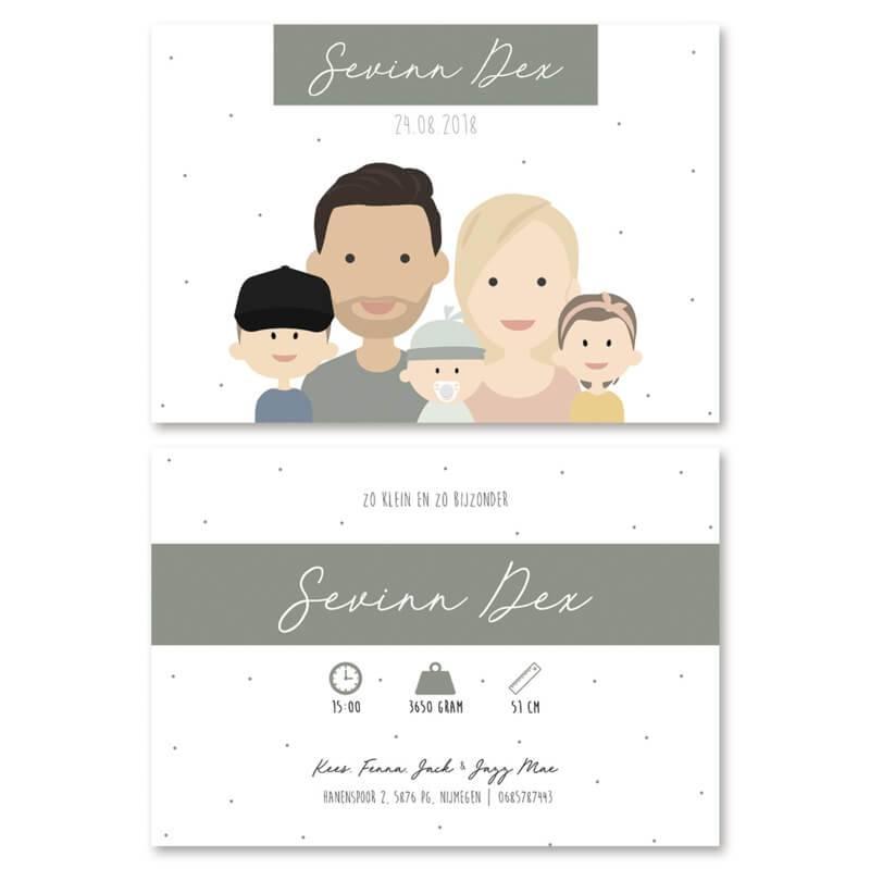 Geboortekaartje Sevinn Dex