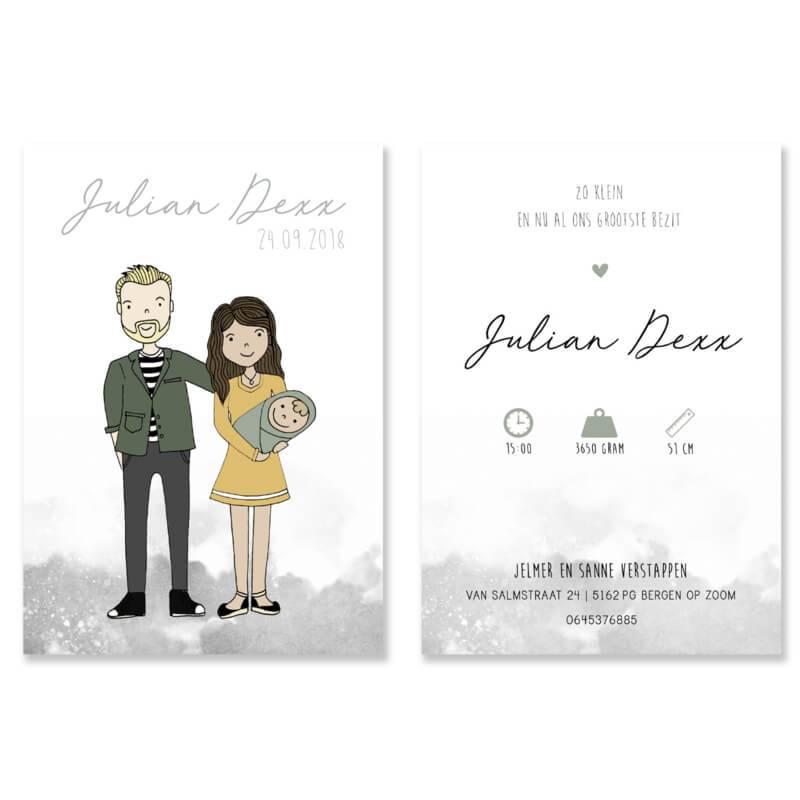 Geboortekaartje Julian Dexx