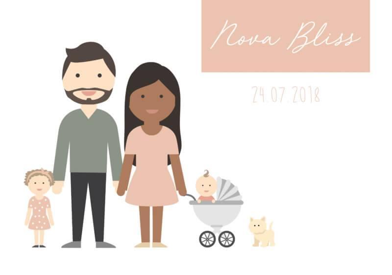 Geboortekaartje Nova Bliss