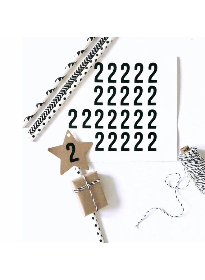 Stickers cijfers