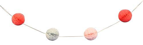 Honeycomb slinger rood, roze en grijs