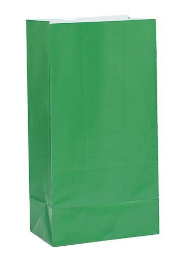 Traktatiezakjes groen 12x