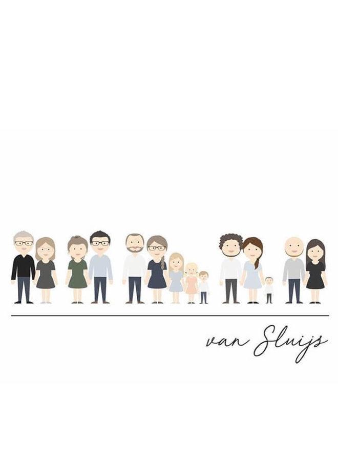 Familie poster avatar full body
