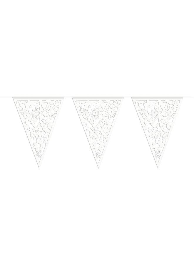 Vlaggenlijn papier wit