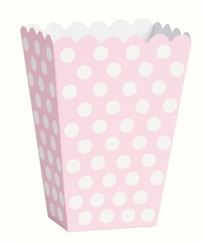 Traktatiebakjes  roze 8x