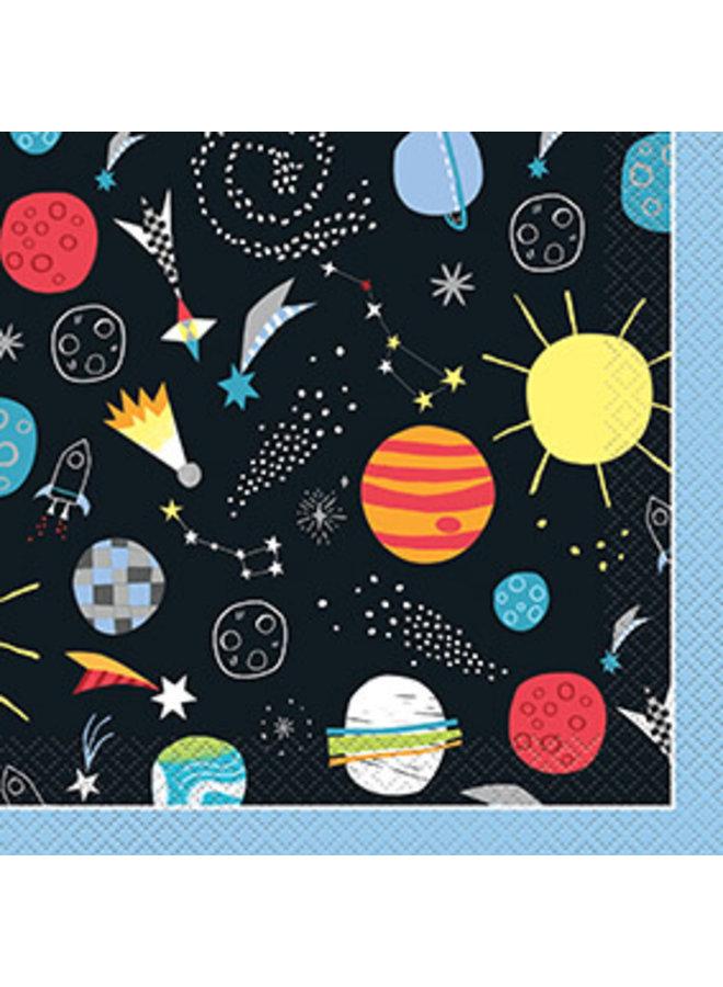 Ruimtevaart servetten 16 x