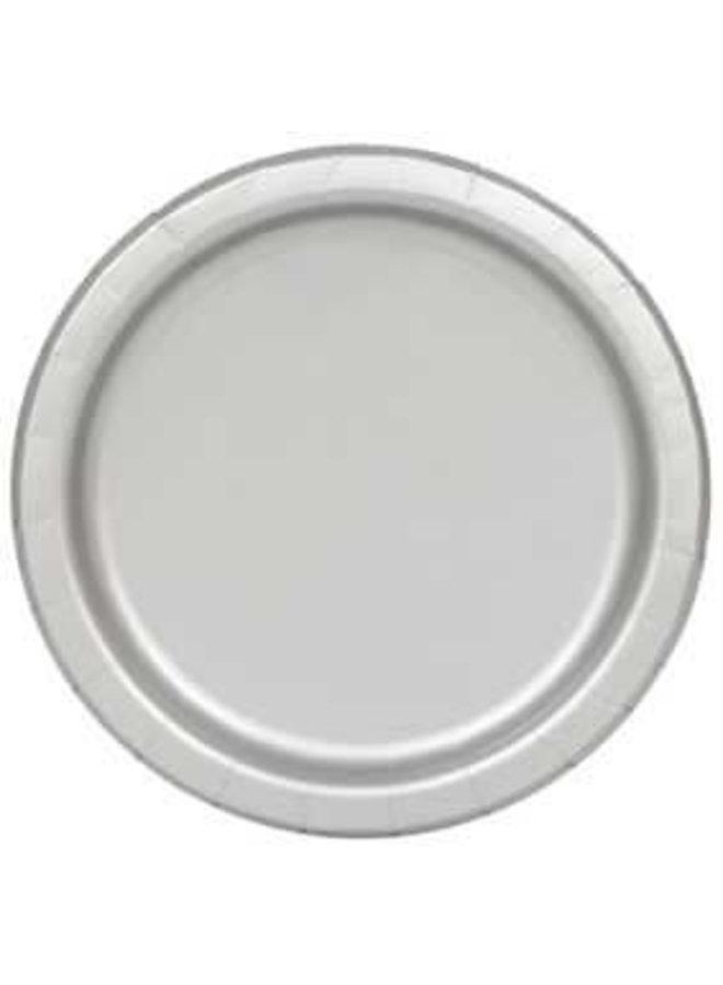 Zilveren papieren borden 8x