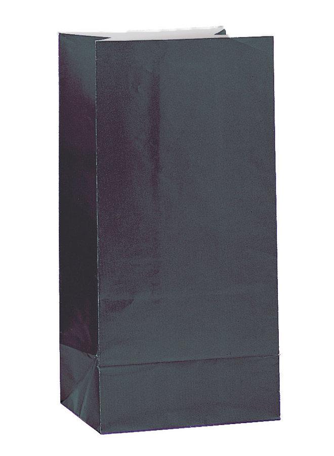 Traktatiezakjes zwart 12x