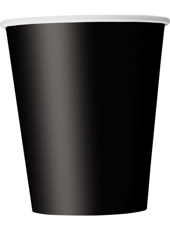Zwarte bekers 8x
