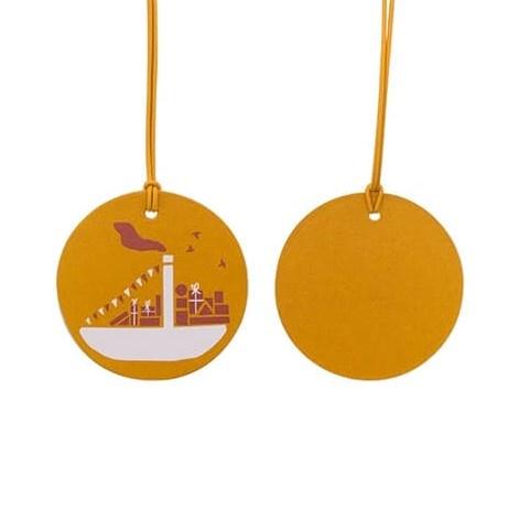 Label sinterklaas geel 5x