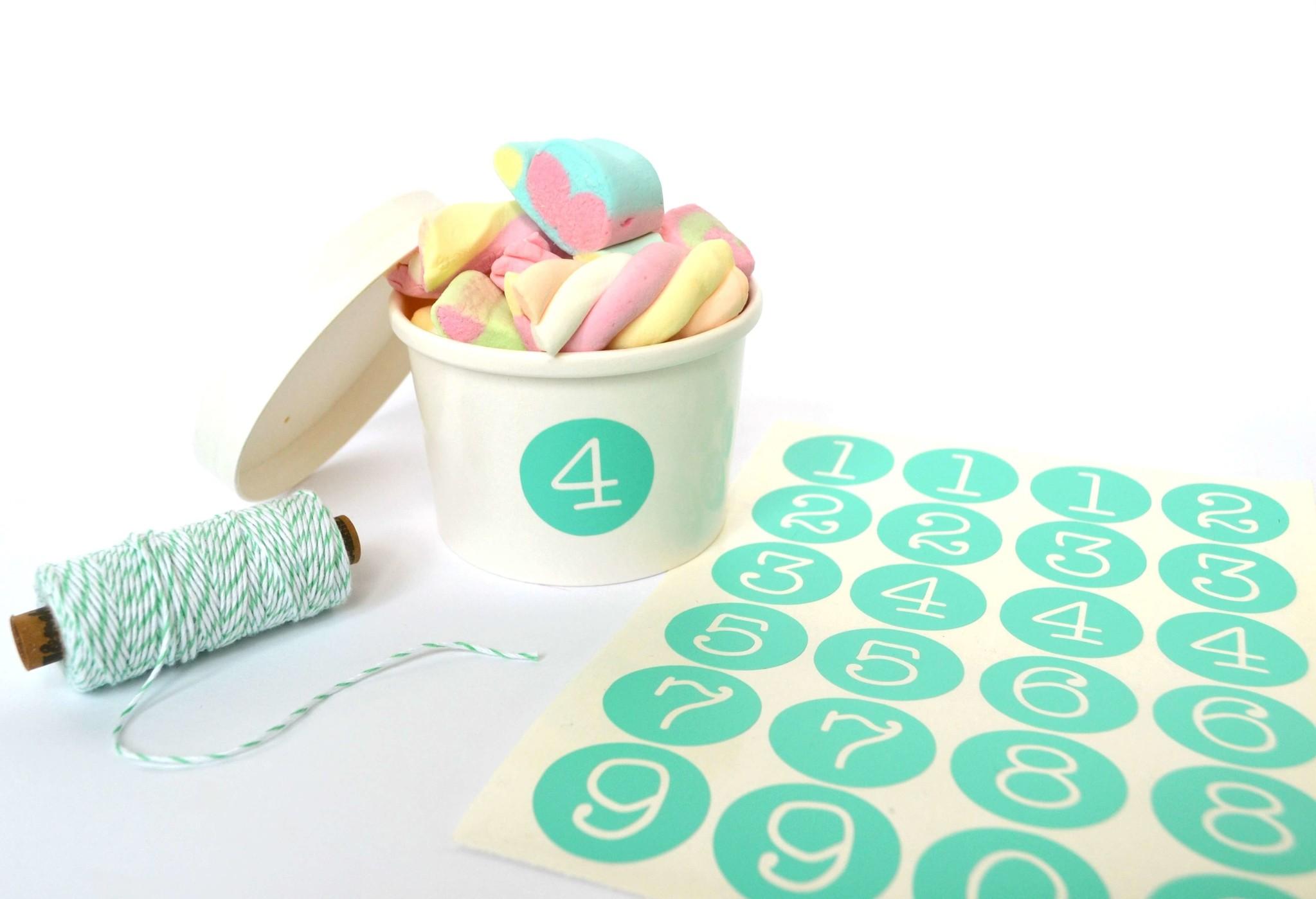 SuzyB Stickers cijfers cirkel