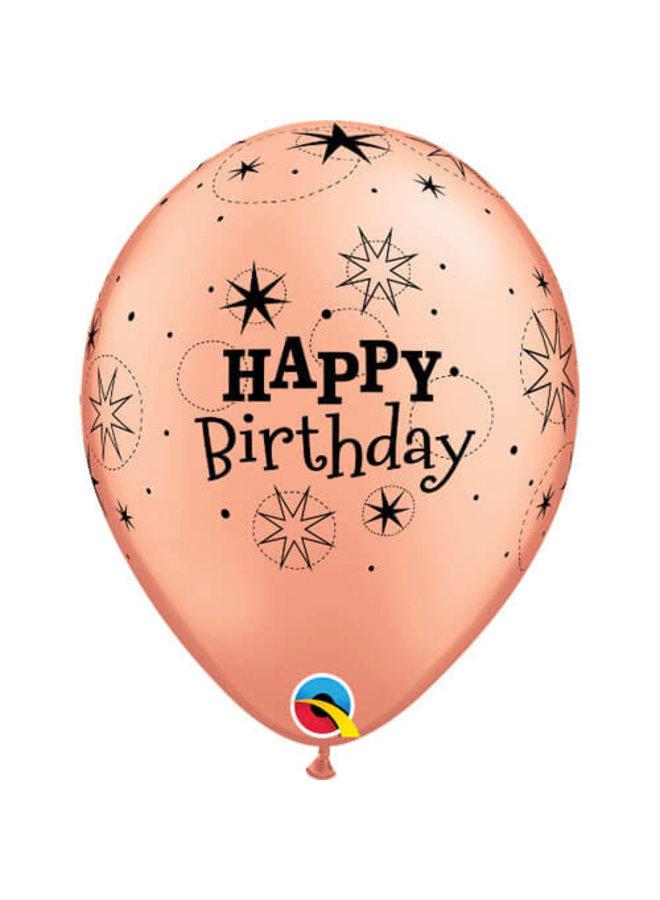 Rose gouden ballonnen happy birthday 6x