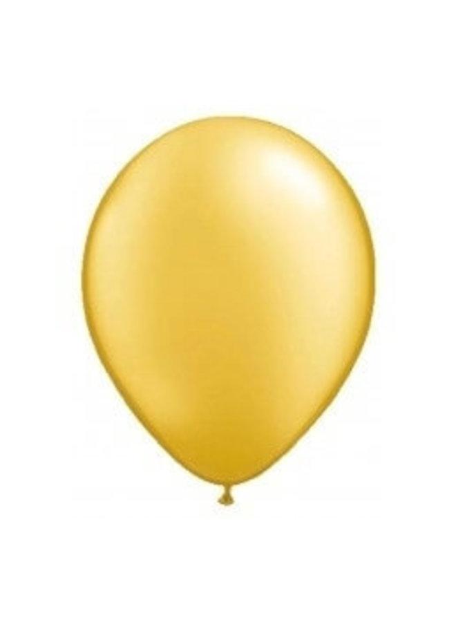 Mini ballon goud 10x