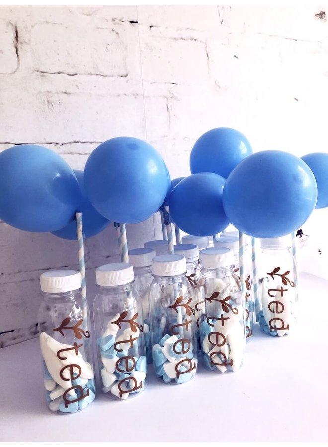Mini ballon lichtblauw 10x
