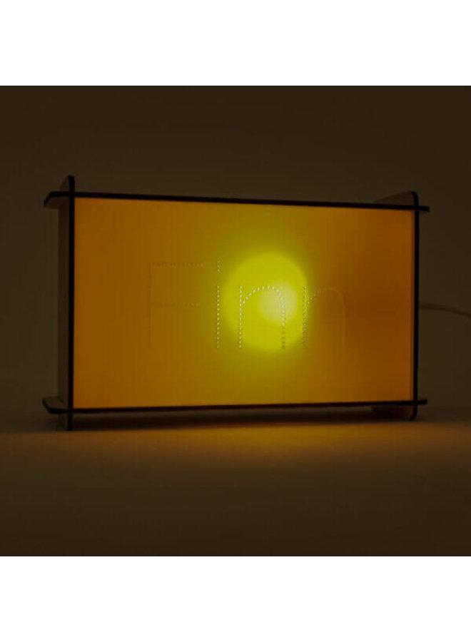 Naamlampje van hout