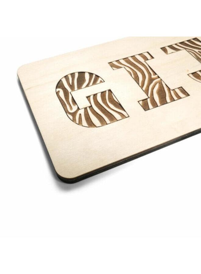 Naampuzzel zebra
