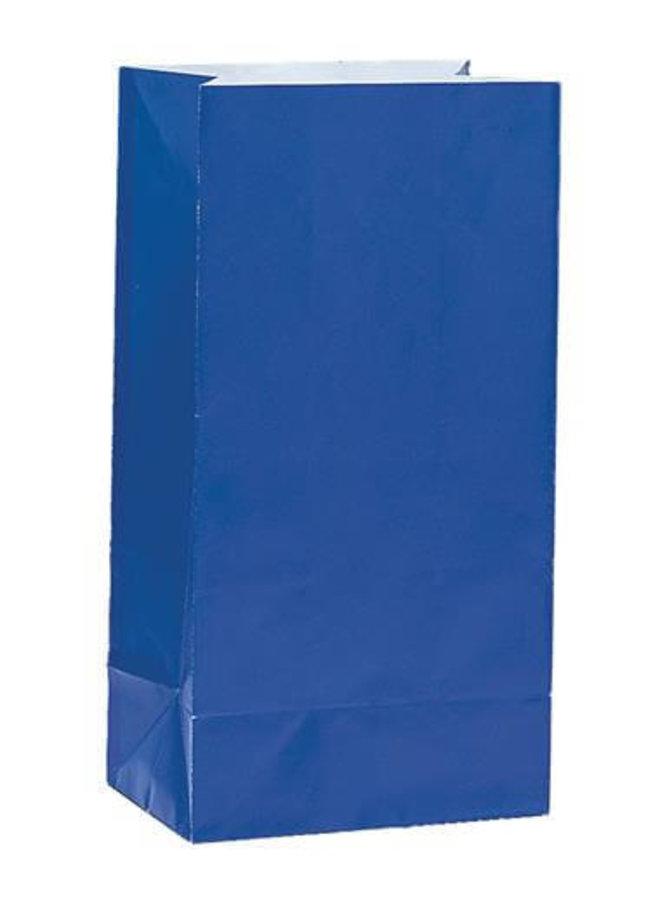 Traktatiezakjes donkerblauw 12x