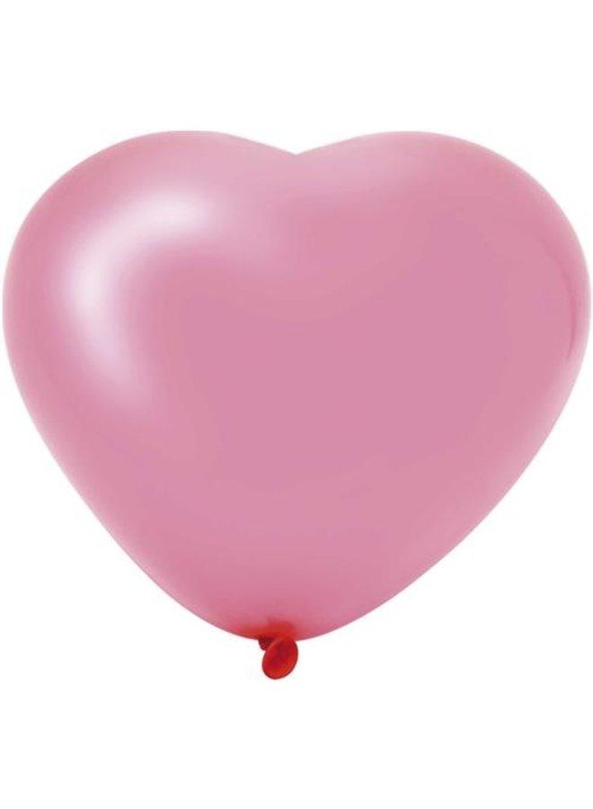 Harten ballonnen roze