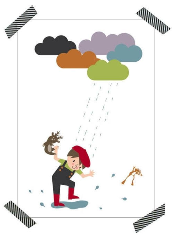 Poster Stampen in de plassen (Min. besteding van 17,50)