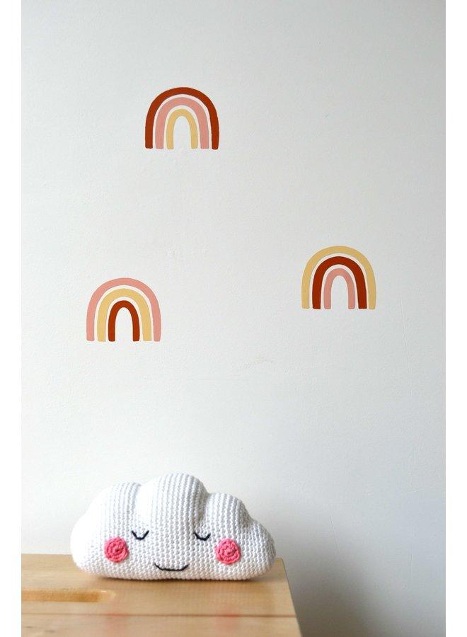 Muursticker regenboogjes (meerdere kleuren mogelijk)
