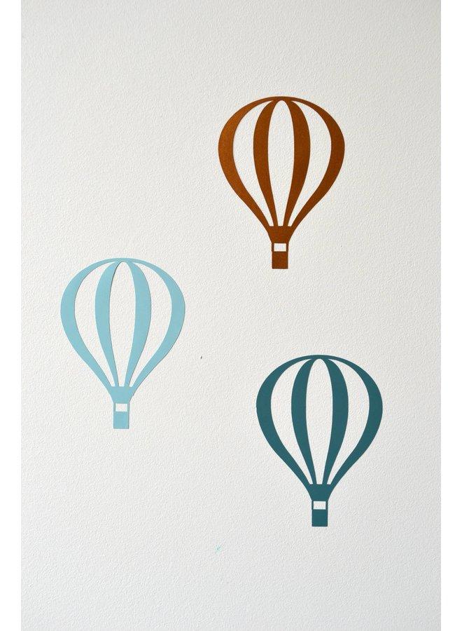 Muursticker luchtballonnen (meerdere kleuren mogelijk)