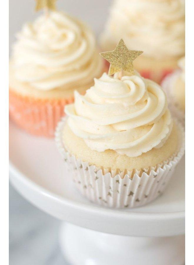 Gouden cupcake prikker sterren