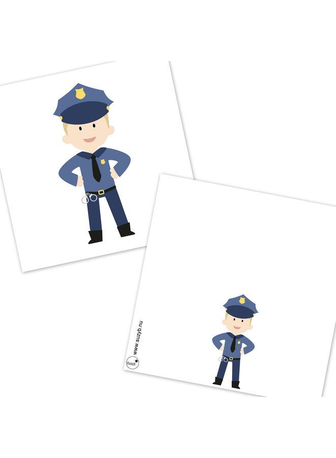 Traktatie kaartjes Politie 10x