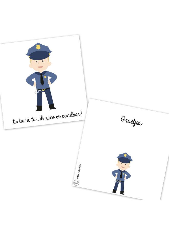 Traktatie kaartjes Politie afscheid 10x