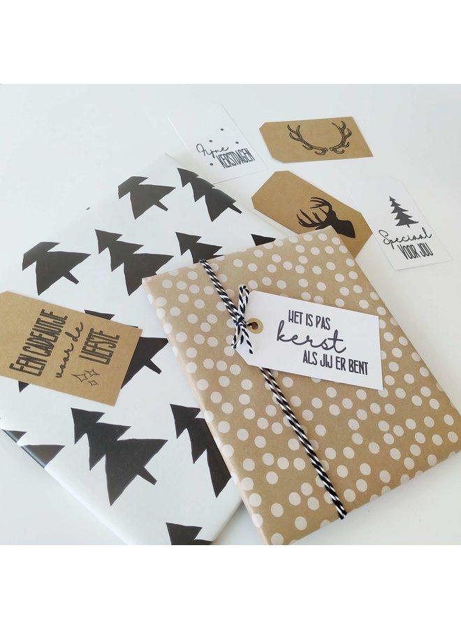 Printable Kerstlabels voor cadeautjes