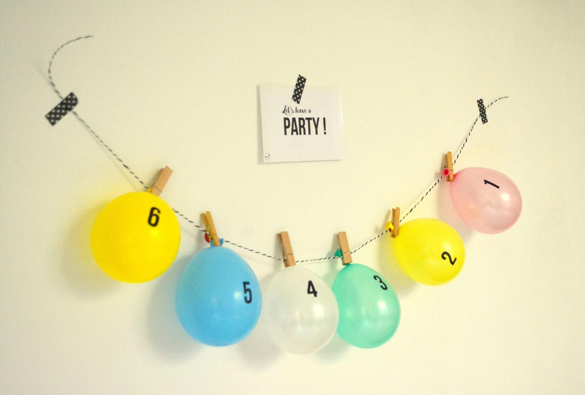 aftelkalender miniballonnen