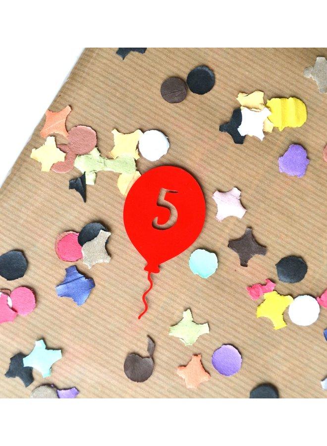 Cijferballonnen stickers