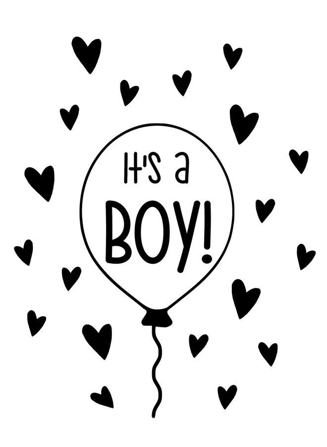 Geboortesticker Ballon jongen