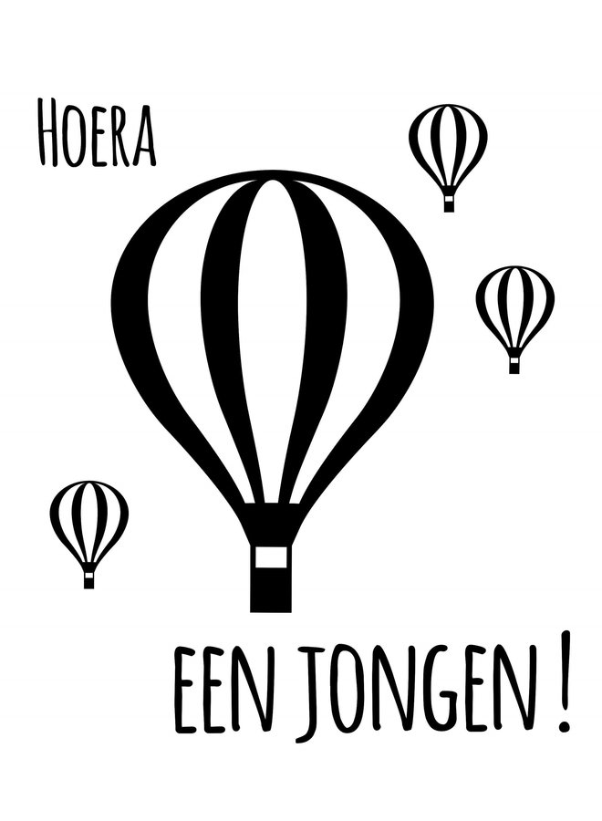 Geboortesticker Luchtballon jongen