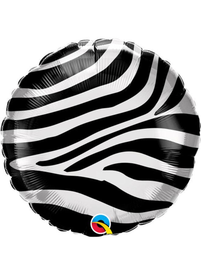 Folieballon zebraprint