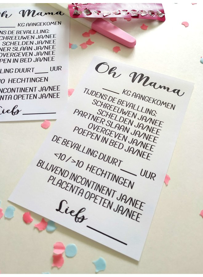 Printable babyshower: Oh mama